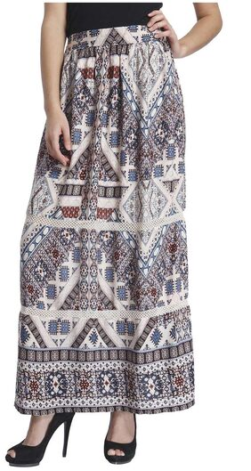 Only White Viscose Skirt