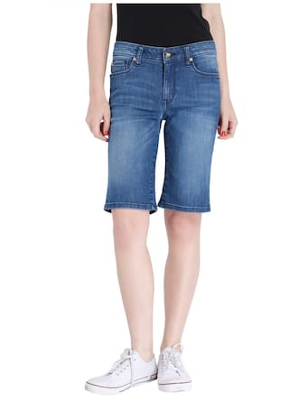 Only Women Blue Casual Shorts