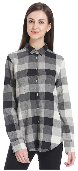 Only Women Black Casual Shirt