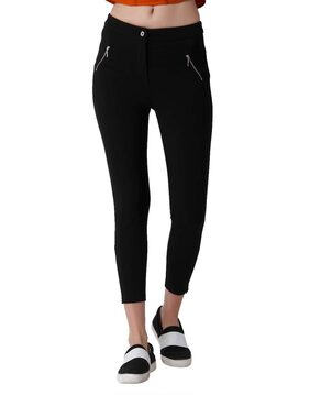 ONLY Women Slim fit Mid rise Solid - Black