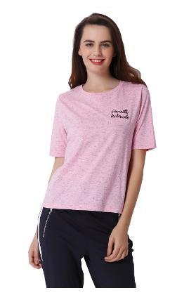 ONLY Printed Pink T Shirt