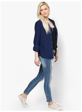 ONLY Women Skinny fit Mid rise Solid Jeans - Blue
