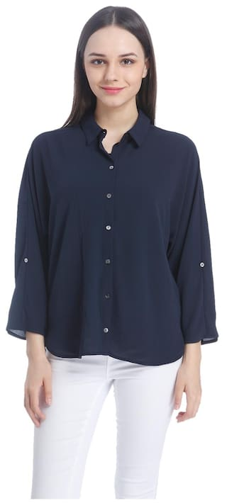 Only Women Casual Solid Shirts