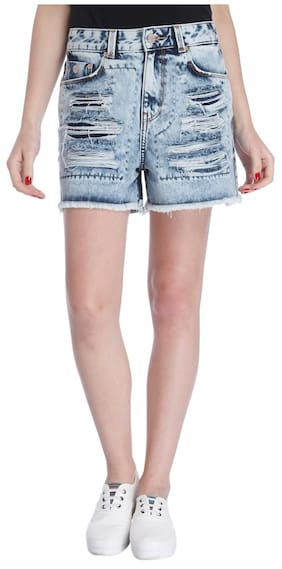 ONLY Women Dyed Shorts - Blue