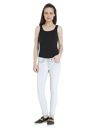 Light Blue Women's Only Jeans solid Casual Y4FUZw