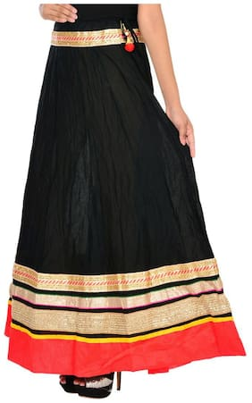 Ooltah Chashma Cotton Party Wear Long Skirt For Women (size: Length- 40 Inches X Waist Till-36 Inches)