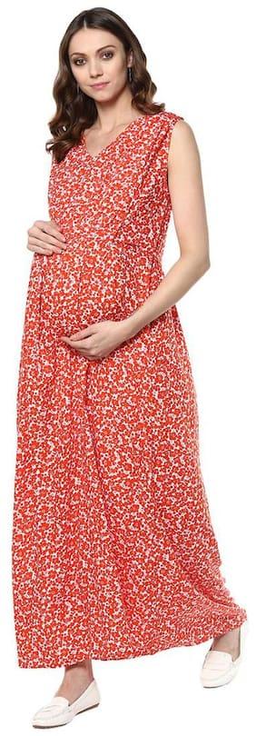 Mine4Nine Red Floral Maxi dress