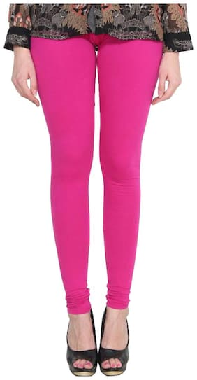 Orion Apparel Cotton  Churidar Strechable Leggings - Pink