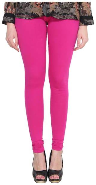 Orion Apparel Cotton  Churidar Strechable Leggings - Pink