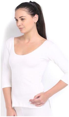 Oswal Ladies White Thermal Top