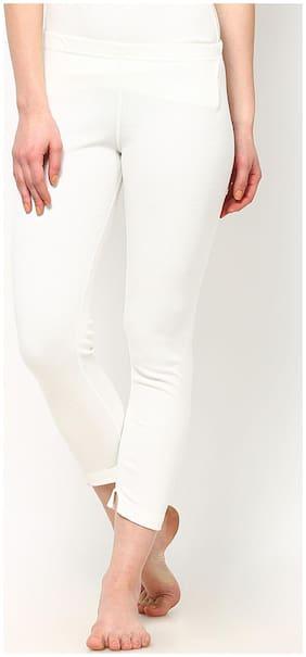 Oswal Ladies White Thermal Lower