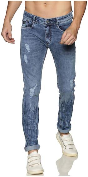 OWEN HART Men Blue Skinny Fit Jeans