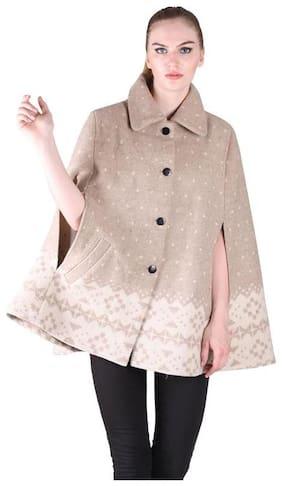 Owncraft Women Regular Fit Coat - Beige