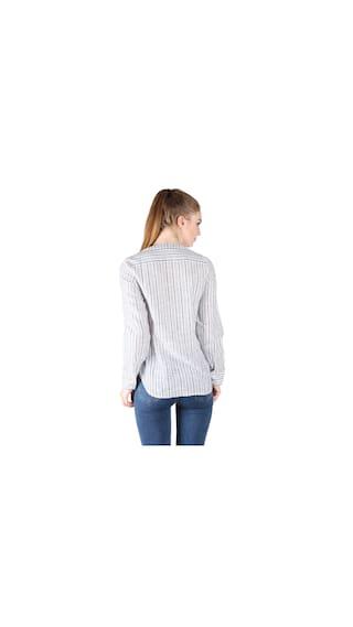 White Shirt amp; Owncraft Stripe Blue wRIxOUEq