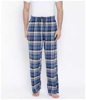 Oxolloxo Men Cotton Checked Pyjama - Multi