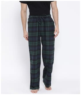 Oxolloxo Men Cotton Checked Pyjama - Multi