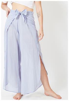 OXOLLOXO Women Cotton Solid Pyjama - Blue
