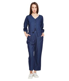 OXOLLOXO Solid Dungaree - Blue
