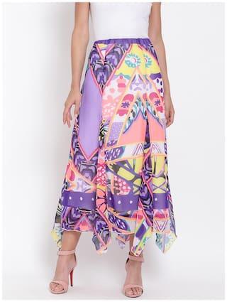 Oxolloxo Printed A-line skirt Maxi Skirt - Multi