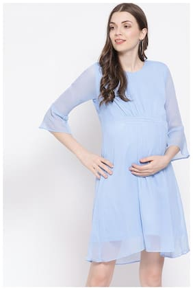 OXOLLOXO Women Maternity Dress - Blue M