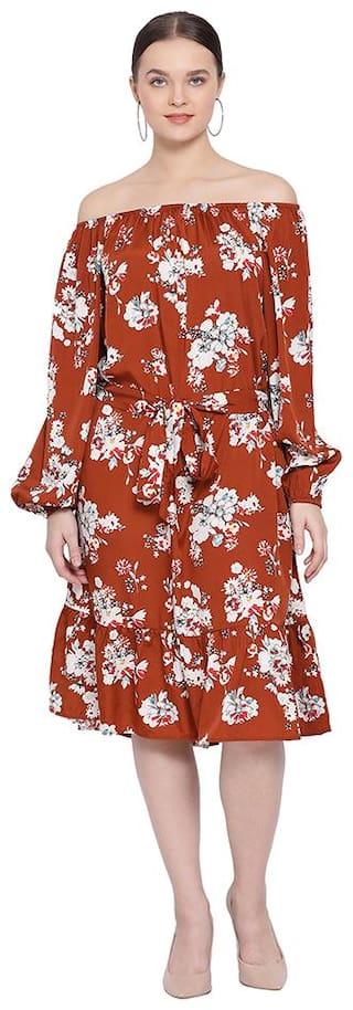 Oxolloxo Red Printed A-line dress