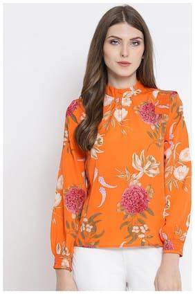 OXOLLOXO Women Floral A-line top - Orange