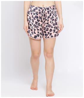 Oxolloxo Women Floral Regular shorts - Pink