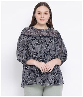Oxolloxo Women Polyester Printed - A-line top Multi