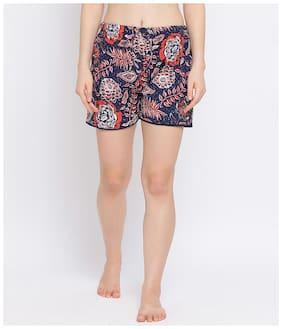 Oxolloxo Women Floral Regular shorts - Blue