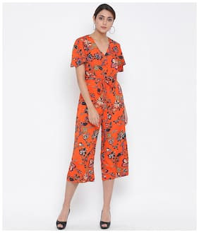 Oxolloxo Floral Jumpsuit - Orange