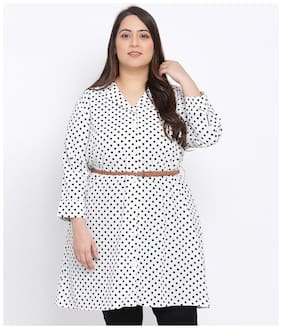 Women Polka Dots Classic Collar Top ,Pack Of 1
