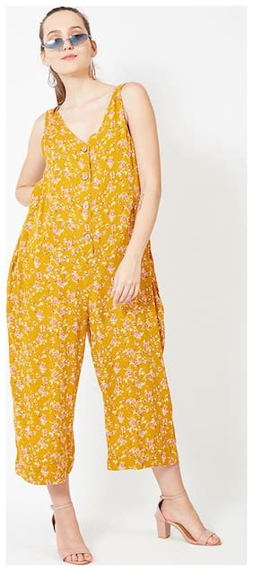 OXOLLOXO Printed Jumpsuit - Yellow