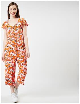 OXOLLOXO Printed Jumpsuit - Orange