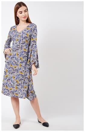 OXOLLOXO Viscose Printed A-line Dress Multi