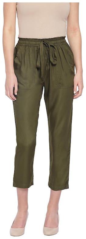 Oxolloxo Women Green Regular fit Regular pants