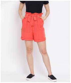 Women Viscose Rayon Regular Fit Shorts