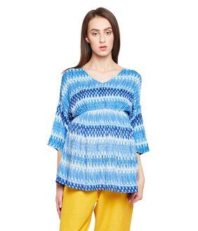 Oxolloxo Viscose Printed Maternity Wear Multicolor Top