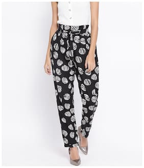 Women Printed Regular Trousers