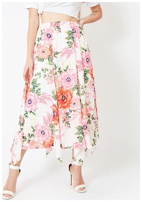OXOLLOXO Floral A-line skirt Midi Skirt - Multi