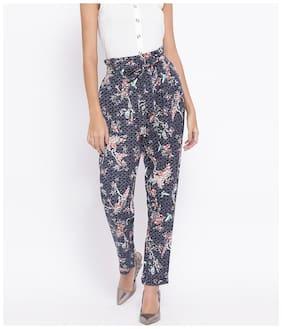 Women Floral Regular Trousers