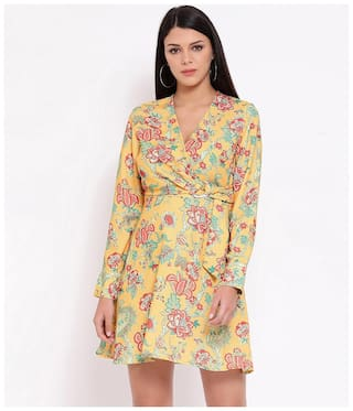 Oxolloxo Yellow Floral A-line dress
