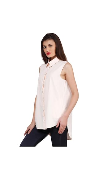 Shirt Low Women Peach High Oxolloxo 7wqY6aTH4x