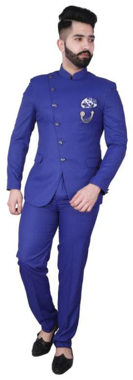 P.K.GARMENTS Blended Medium Sherwani - Blue