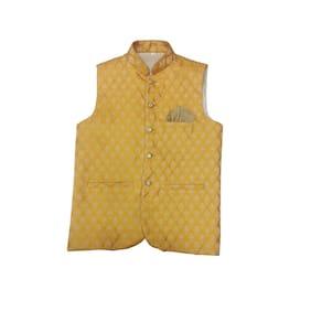 Men Printed Cotton Blend Ethnic Jacket Pack Of 1