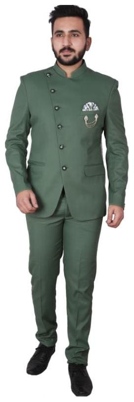 P.K.GARMENTS Blended Medium Sherwani - Green