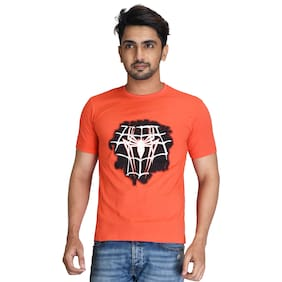 Pacific Wear Men Orange Regular fit Cotton Round neck T-Shirt - Pack Of 1