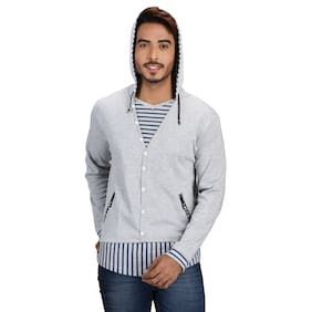 Pacific Wear Cotton Colourblocked Assorted Color Hoodie for Men