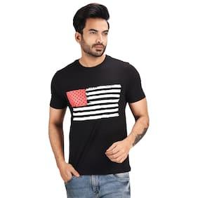 Pacific Wear Men Black Regular fit Cotton Round neck T-Shirt - Pack Of 1