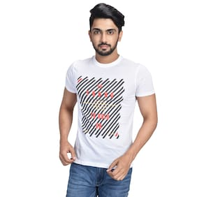 Pacific Wear Men White Regular fit Cotton Round neck T-Shirt - Pack Of 1