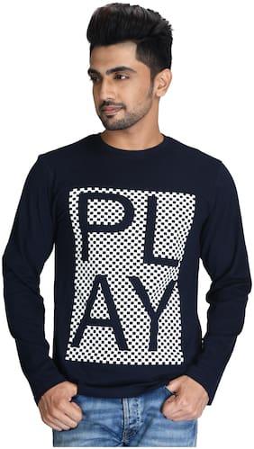 Pacific Wear Men Blue Regular fit Cotton Round neck T-Shirt - Pack Of 1